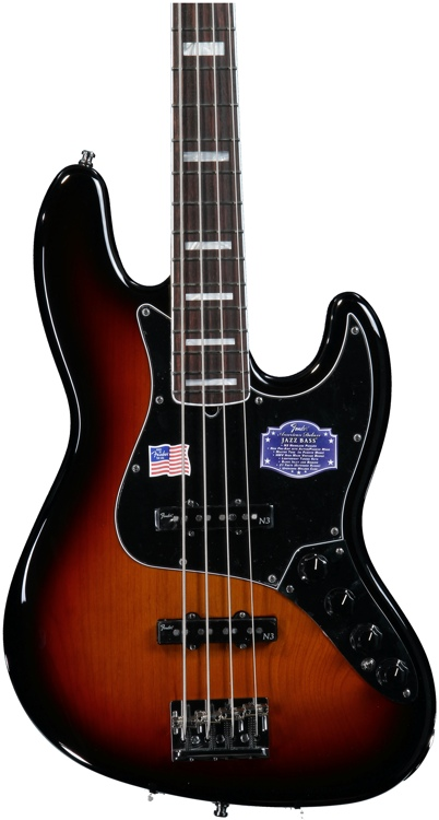 Fender American Deluxe Jazz Bass - 3-Color Sunburst image 1