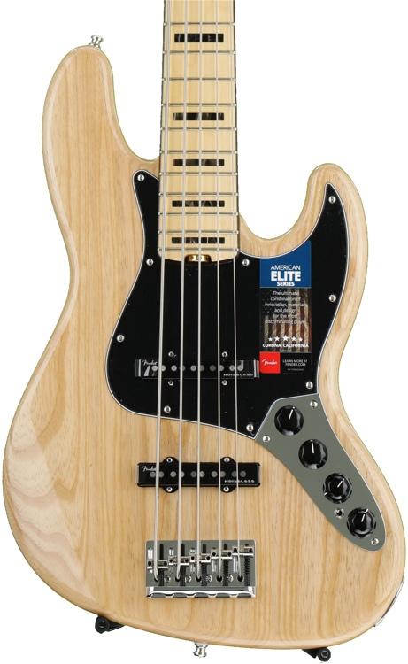 Fender American Elite Jazz Bass V - Natural, Maple Fingerboard image 1