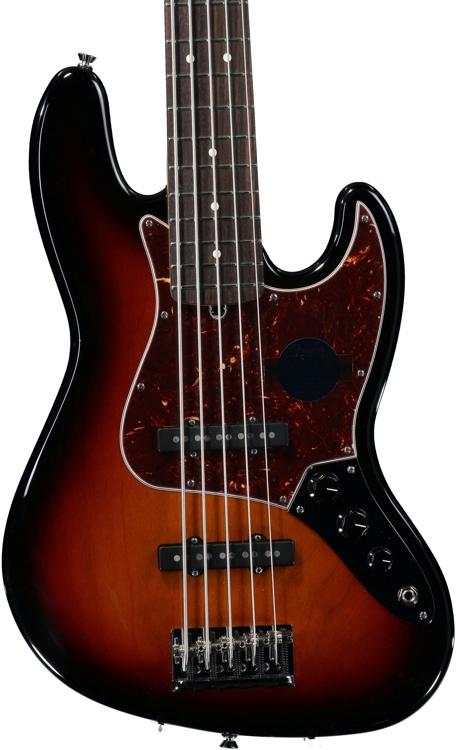 Fender American Standard Jazz Bass, Five String - 3-color Sunburst image 1