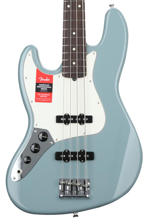 Fender American Professional Jazz Bass, Left-handed - Sonic Gray with Rosewood Fingerboard image 1