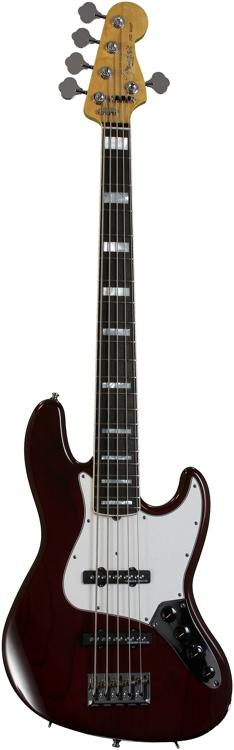 Fender Custom Shop Custom Classic Jazz Bass V Special - Bing Cherry Transparent image 1