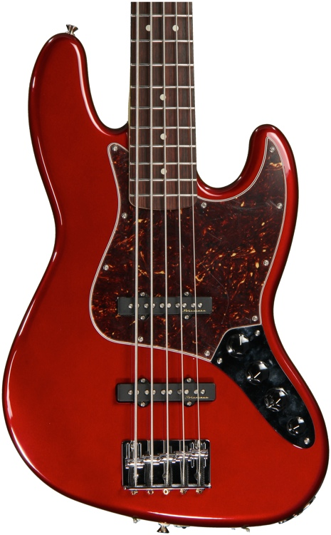 Fender Deluxe Active Jazz Bass V - Candy Apple Red image 1