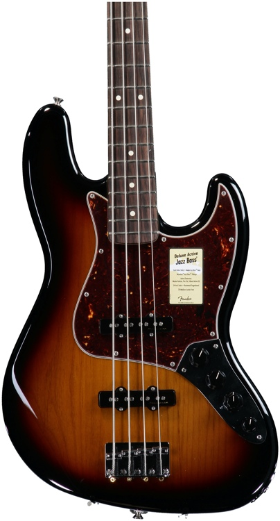 Fender Deluxe Active Jazz Bass - Brown Sunburst image 1