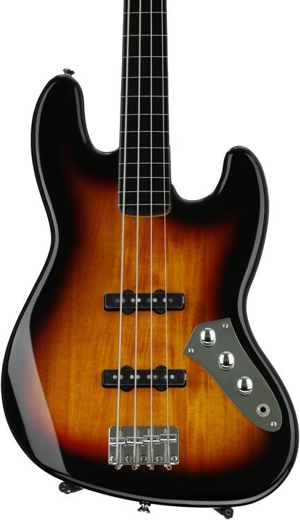 Squier Vintage Modified Jazz Bass - 3-Color Sunburst, Fretless image 1