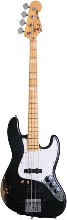 Fender Custom Shop Limited Geddy Lee 1972 Jazz Bass - Relic\'d Black image 1
