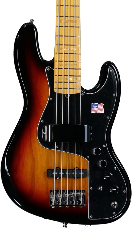 Fender Marcus Miller Jazz Bass V - 3-Color Sunburst image 1
