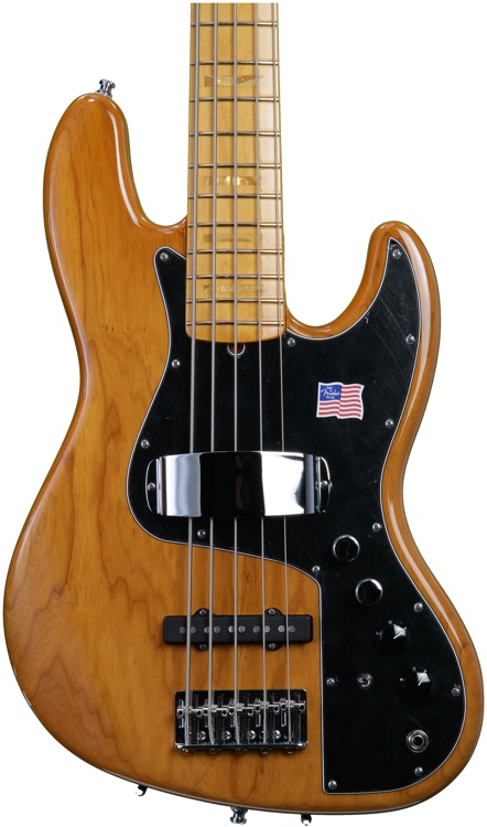 Fender Marcus Miller Jazz Bass V - Aged Natural image 1