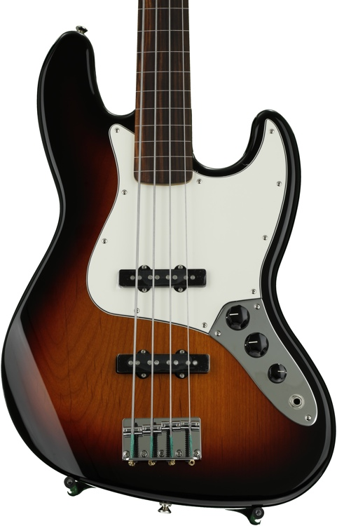 Fender Standard Jazz Bass, Fretless - Brown Sunburst with Rosewood Fingerboard image 1