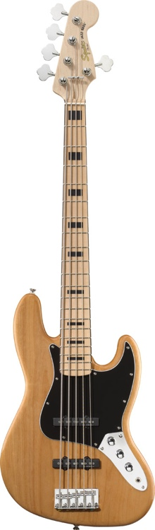 Squier Vintage Modified Jazz Bass - Natural 5-String image 1