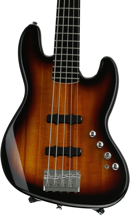 Squier Deluxe Jazz Bass V Active - 3-Color Sunburst image 1