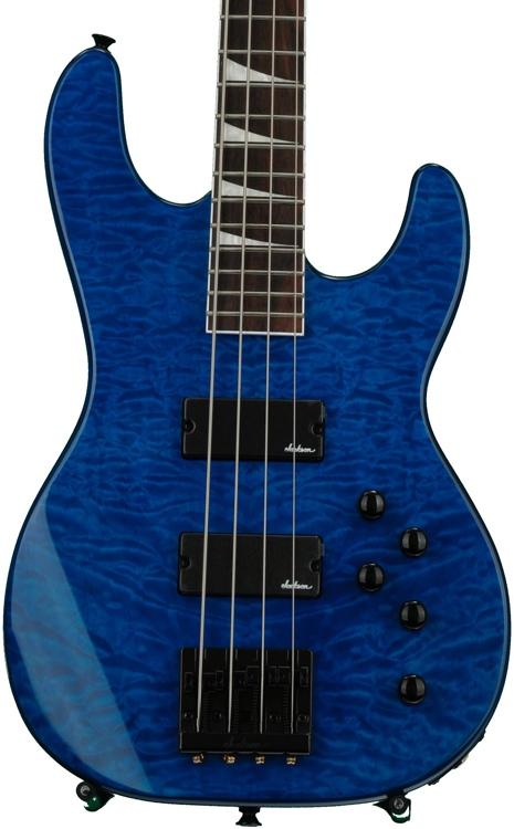 Jackson JS3 Concert Bass - Transparent Blue image 1