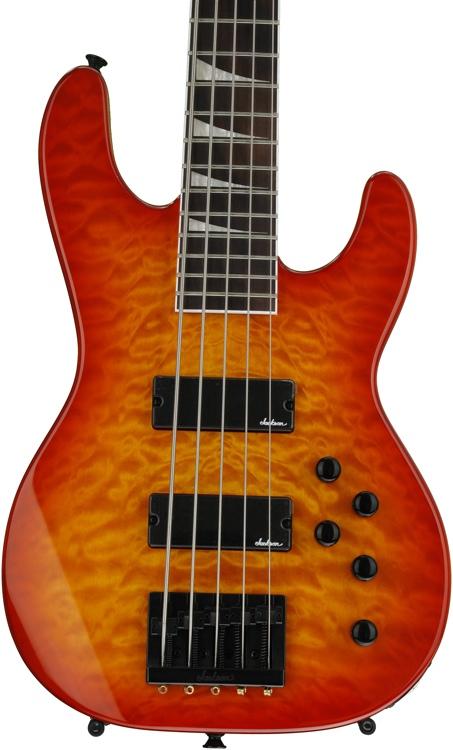Jackson JS3V Concert Bass - Transparent Amber image 1