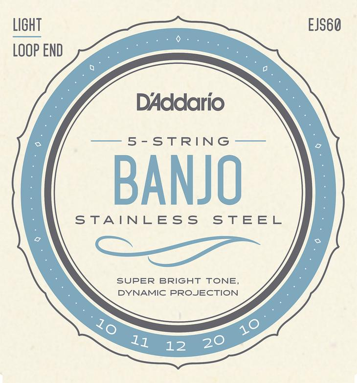 D\'Addario EJS60 Stainless Steel Banjo Strings - .010-.020 Light 5-Str image 1