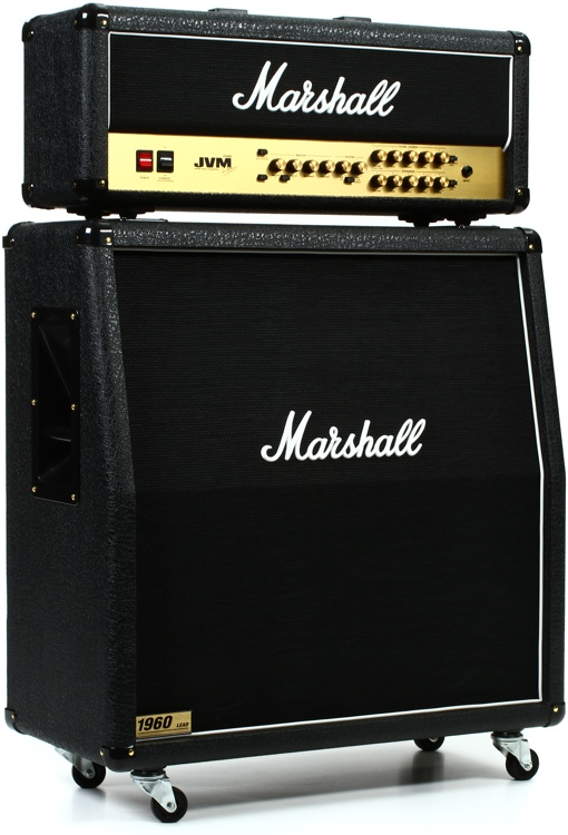 Marshall JVM210H/1960A Angled Half Stack Package | Sweetwater