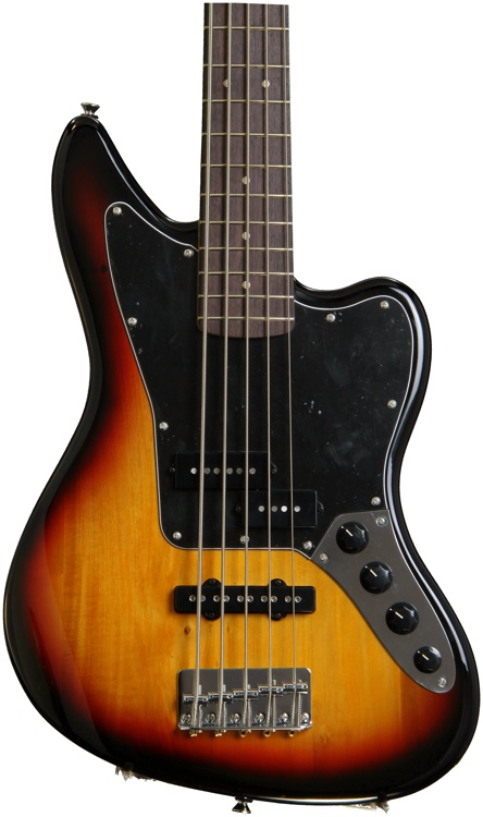 Squier Vintage Modified Jaguar Bass V Special - 3-Color Sunburst image 1
