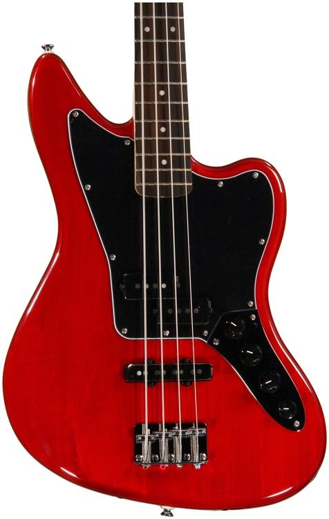 Squier Vintage Modified Jaguar Bass Special - Crimson Red Transparent image 1