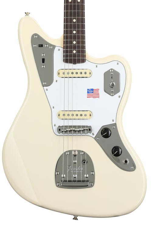 Fender Johnny Marr Jaguar - Olympic White with Rosewood Fingerboard image 1