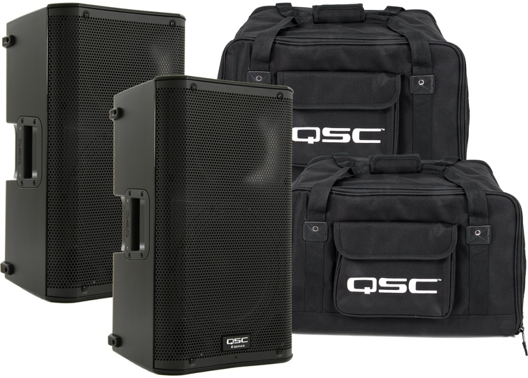 QSC K10 Speaker Pair with Totes image 1