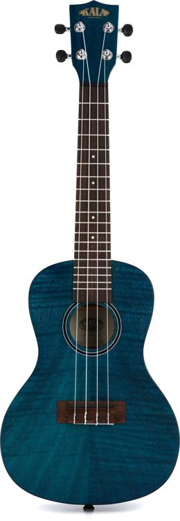 Kala KA-CEM Exotic Mahogany Series Concert Ukulele - Blue image 1