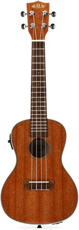 Kala KA-CGE Gloss Mahogany Series Concert Ukulele with EQ image 1