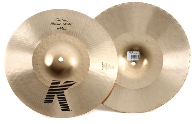 Zildjian K Custom Hybrid Hi-hats - 13.25
