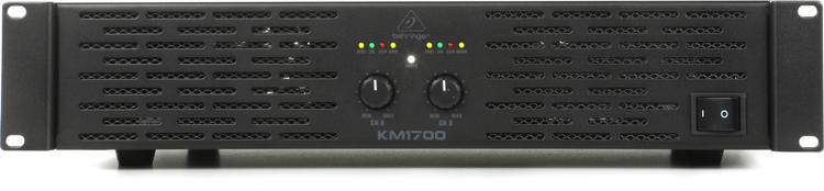 behringer km1700 power amplifier sweetwater. Black Bedroom Furniture Sets. Home Design Ideas