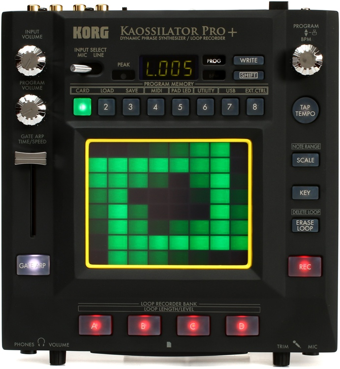 korg kaossilator pro phrase synthesizer and loop recorder. Black Bedroom Furniture Sets. Home Design Ideas