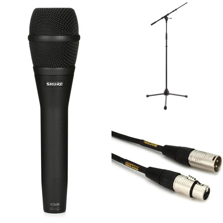 Shure KSM9 Microphone with Stand and Cable - Charcoal Grey image 1
