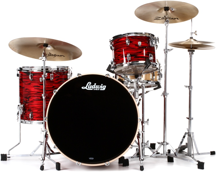 Ludwig Keystone X Pro Beat Shell Pack 3-piece - Red Swirl image 1