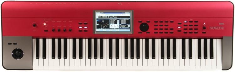 Korg Krome 61-Key Synthesizer Workstation - Red Limited Edition image 1
