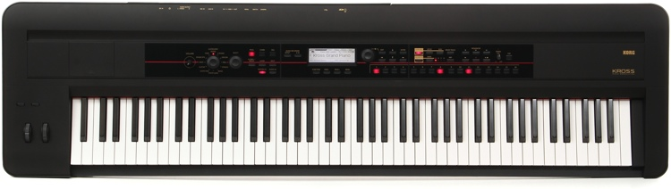 Korg Kross 88-key Synthesizer Workstation - Black image 1