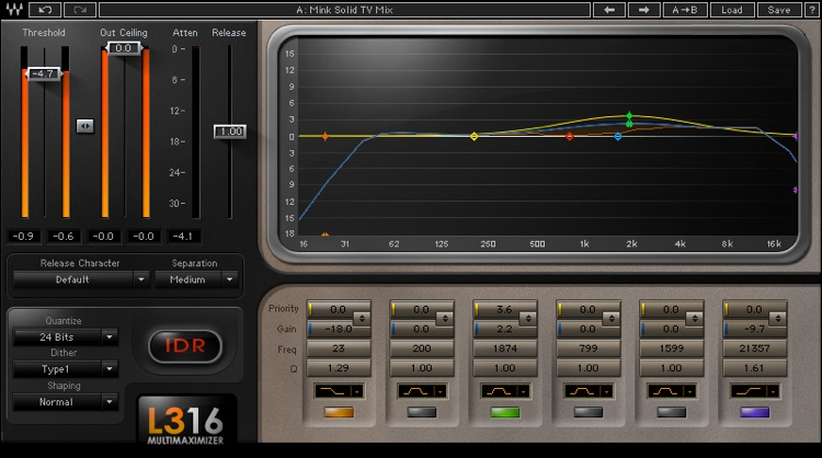 Waves L3-16 Multimaximizer Plug-in for Academic Institutions image 1