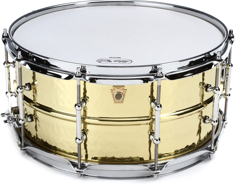 Ludwig Hammered Brass Snare Drum - 6.5