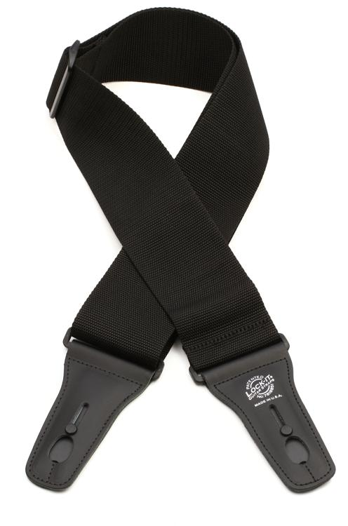 Lock-It Straps LIS 012 P3-BLK Guitar Strap - Black image 1
