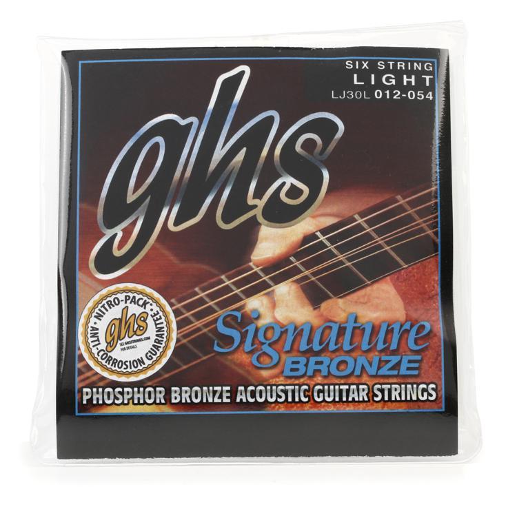 GHS LJ30L Laurence Juber Signature Bronze Light Acoustic Guitar Strings image 1