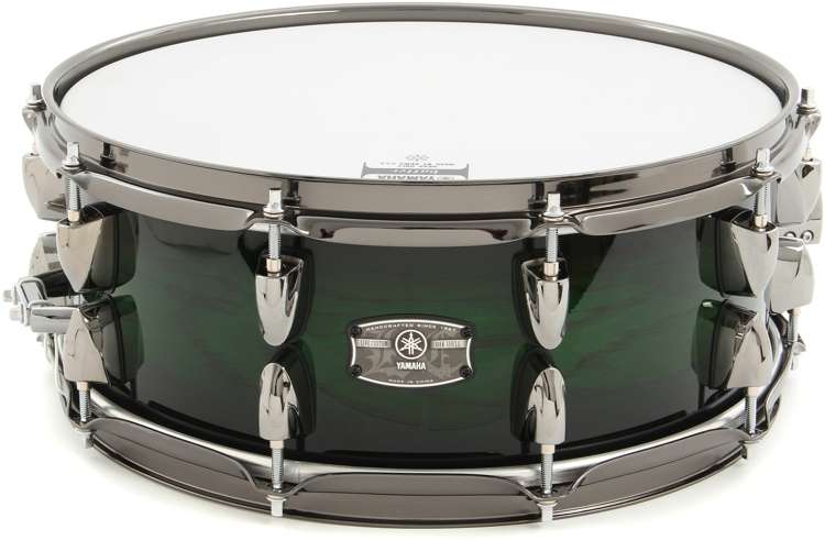 Yamaha Live Custom Snare Drum - Emerald Shadow Sunburst image 1