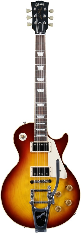 Gibson Custom 1958 Les Paul Plaintop Reissue - Bigsby, Glossy image 1