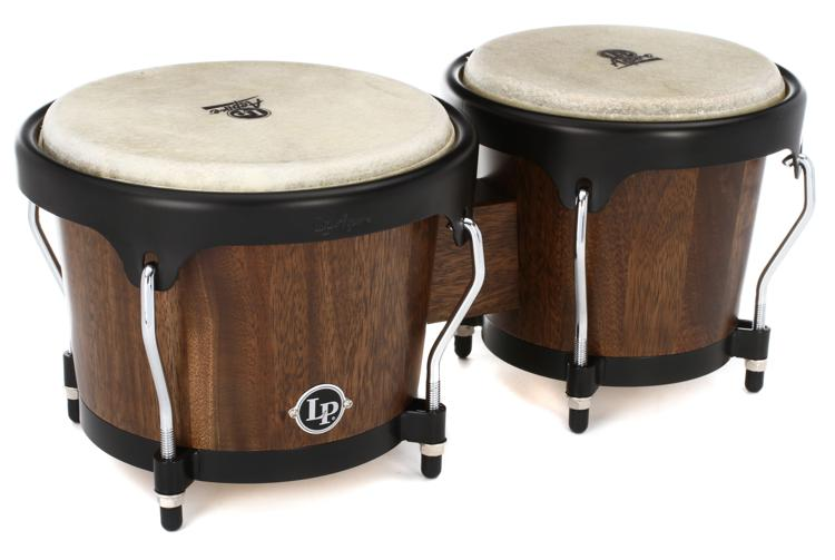 Latin Percussion Aspire Jamjuree Wood Bongos - Natural image 1