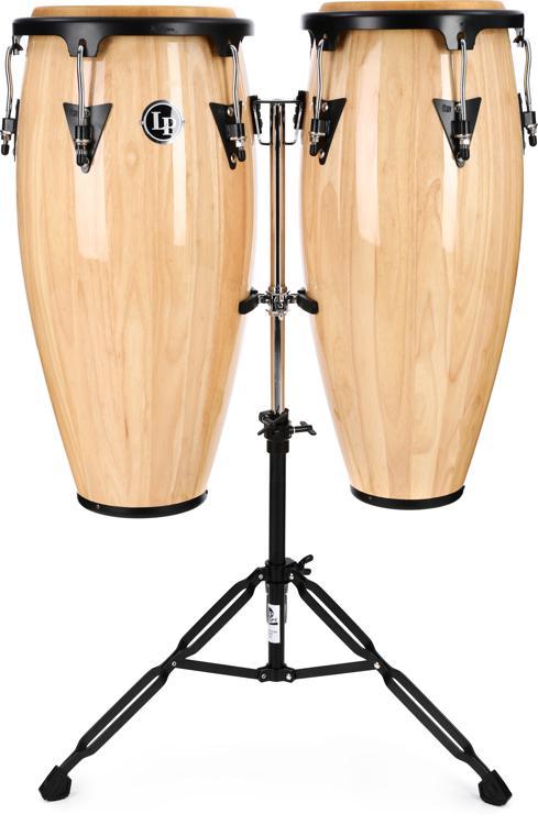 Latin Percussion Aspire Wood Conga Set Natural Sweetwater