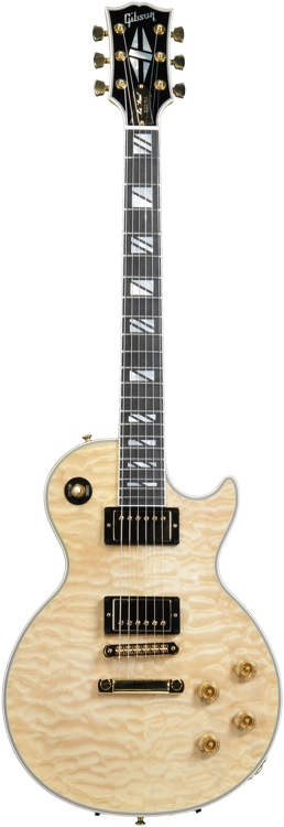 Gibson Custom Les Paul Custom Sweetwater Quilt Top - Antique Natural image 1