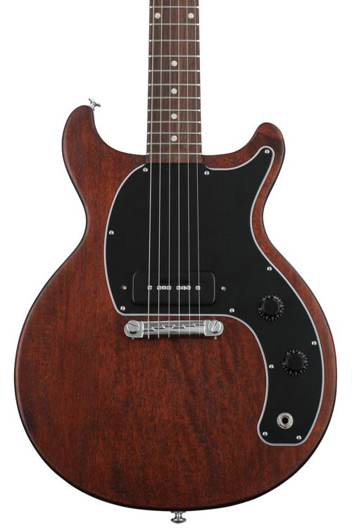 gibson les paul junior tribute doublecut 2019 worn brown sweetwater. Black Bedroom Furniture Sets. Home Design Ideas