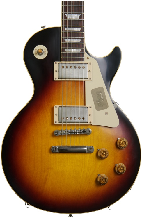 Gibson Custom 1958 Les Paul Plaintop Reissue VOS - Faded Tobacco image 1
