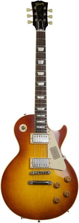 Gibson Custom 1958 Les Paul Plaintop Reissue VOS - Sunrise Teaburst image 1