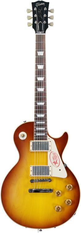 Gibson Custom 1958 Les Paul Plain Top - Iced Tea, VOS image 1