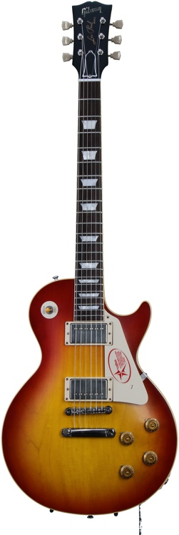 Gibson Custom 1958 Les Paul Plain Top - Washed Cherry, VOS image 1