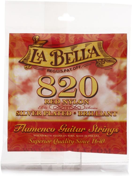 la bella 820 red nylon flamenco guitar strings sweetwater. Black Bedroom Furniture Sets. Home Design Ideas