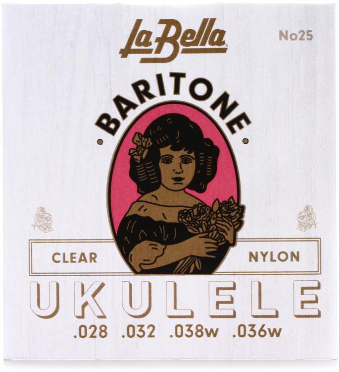 La Bella No. 25 Nylon Ukulele Strings - Baritone Clear image 1