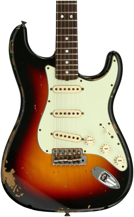 Fender Custom Shop Michael Landau Signature 1968 Relic Stratocaster - Bleached 3-tone Sunburst with Rosewood Fingerboard image 1