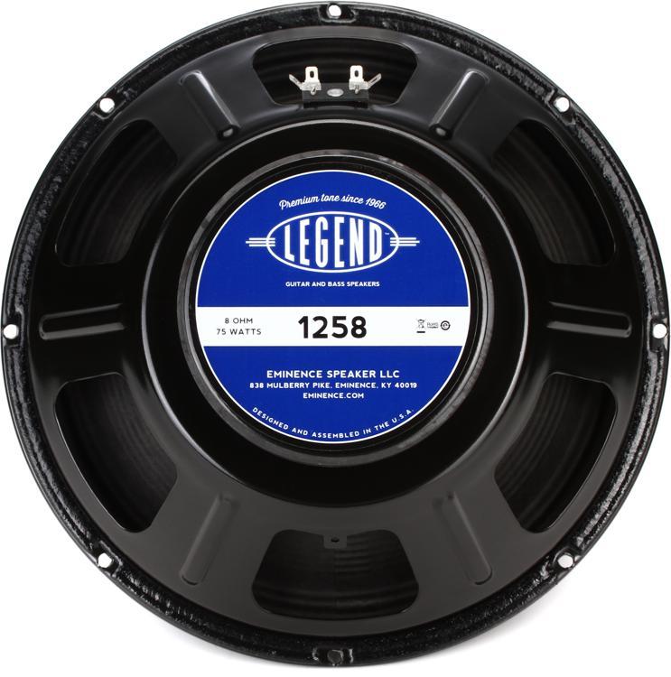 Eminence Legend 1258 : eminence legend 1258 legend series 12 75 watt replacement guitar speaker 8 ohm sweetwater ~ Hamham.info Haus und Dekorationen
