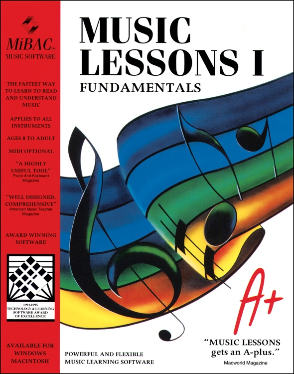 MIBAC Music Software Music Lessons I - 40 Seat Site License - for Windows image 1